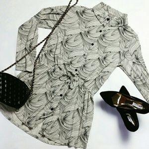 J. Jill Chic Button Down Tunic/Dress - Size Medium